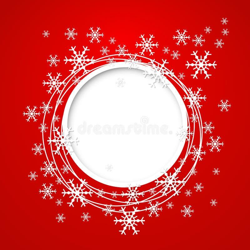 Carte de voeux de Noël de vecteur. illustration de vecteur
