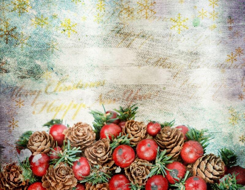 Carte de voeux de Noël de vintage photographie stock