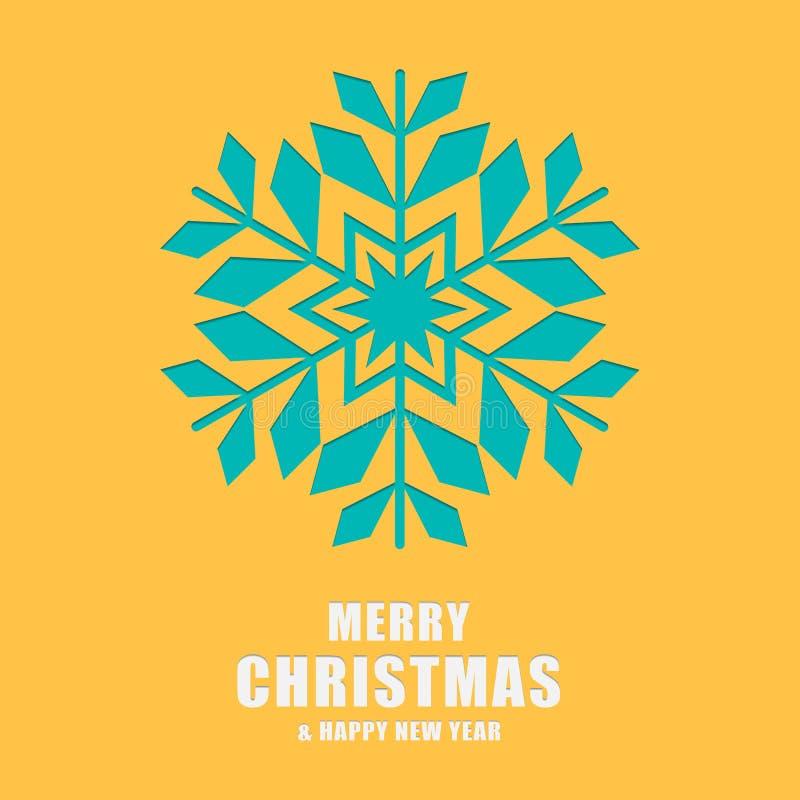 Carte de voeux de Noël et d'an neuf Flocons de neige de calibre illustration libre de droits