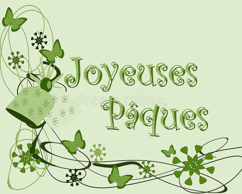 Carte de voeux de Pâques illustration libre de droits