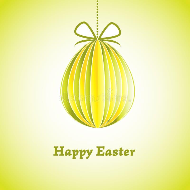 Carte de voeux de Pâques avec l'oeuf. Illustration de vecteur. ENV 10 illustration stock