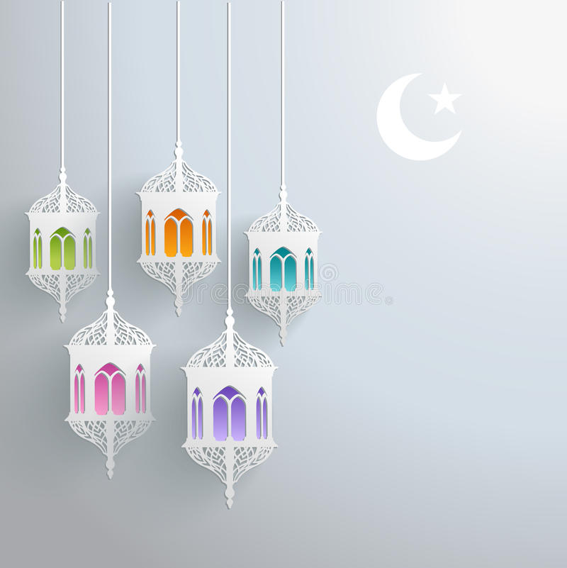 Carte de voeux de Ramadan illustration stock