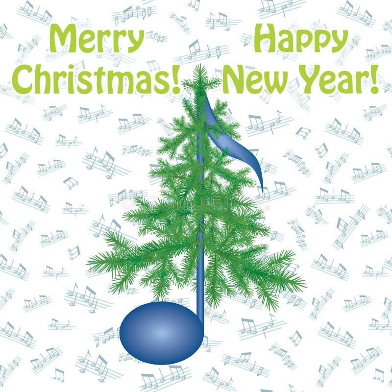 Carte de voeux de vacances de Noël illustration de vecteur