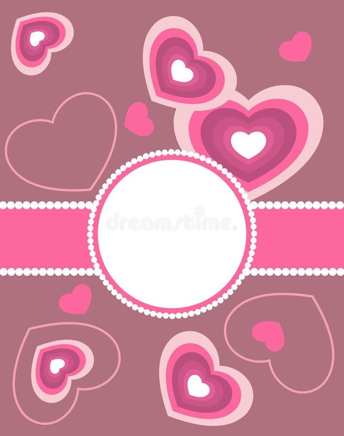 Carte de voeux de Valentine illustration libre de droits