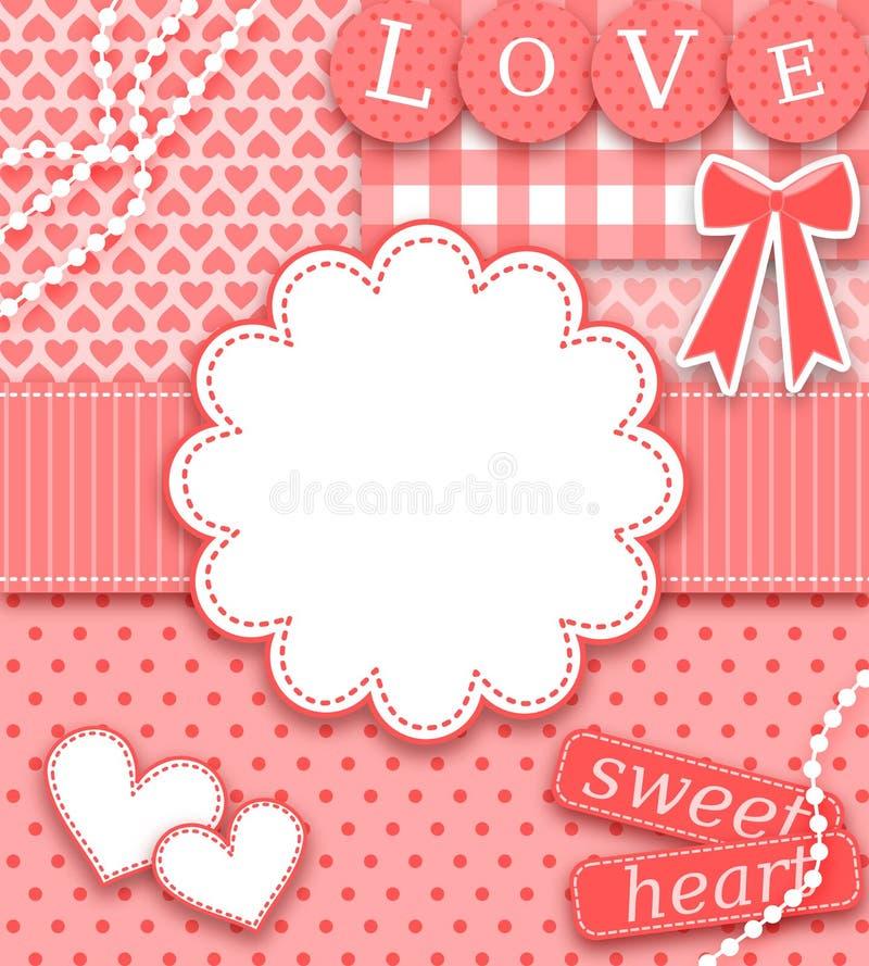 Carte de voeux de Valentine illustration de vecteur