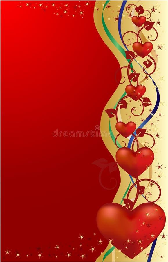Carte de voeux de Valentines, illustration de vecteur illustration stock