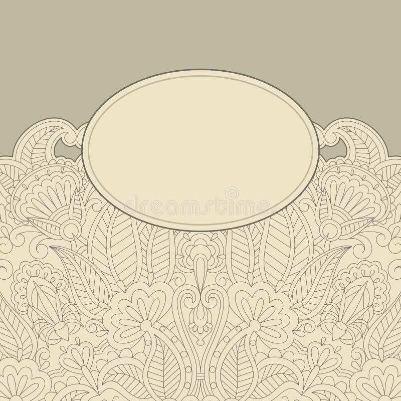 Carte de voeux de vecteur. illustration stock