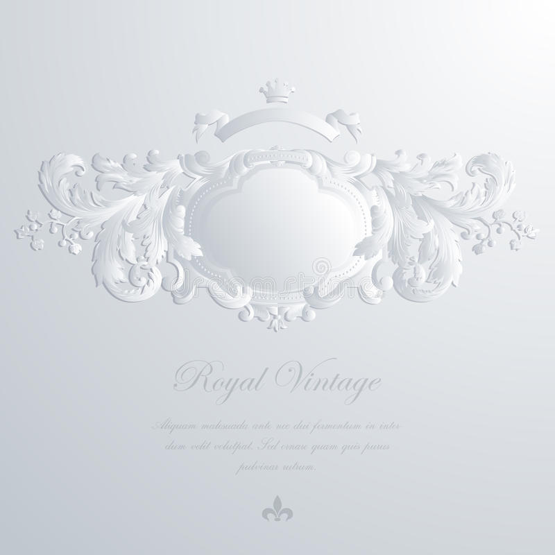 Carte de voeux de vintage et invitation élégantes de mariage illustration de vecteur