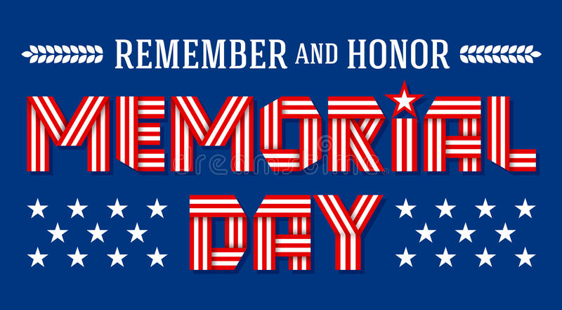 Carte de voeux des USA Memorial Day Illustration de vecteur illustration stock