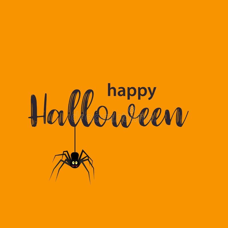 Carte de voeux drôle de Halloween illustration stock