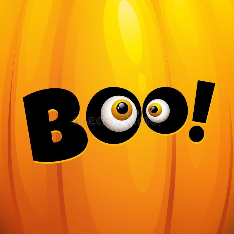 Carte de voeux drôle de Halloween Illustration de vecteur illustration stock