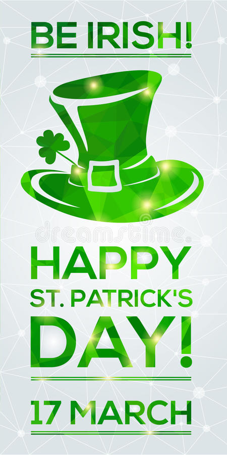 Carte de voeux du jour de St Patrick heureux illustration de vecteur