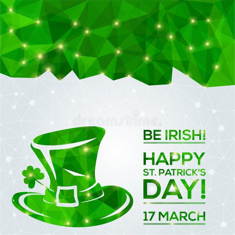 Carte de voeux du jour de St Patrick heureux illustration stock