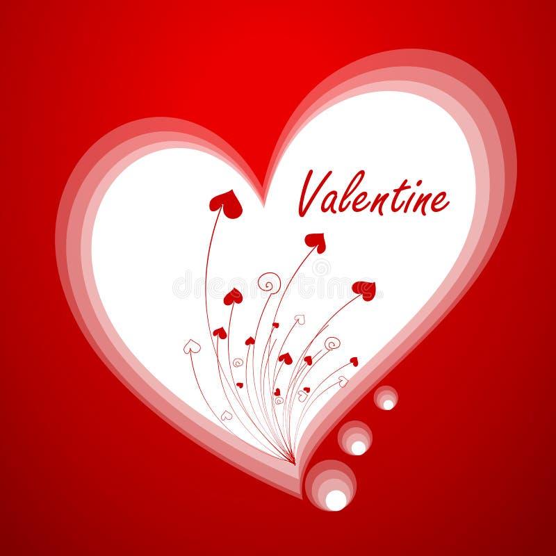 Carte de voeux du ` s de Valentine photos libres de droits