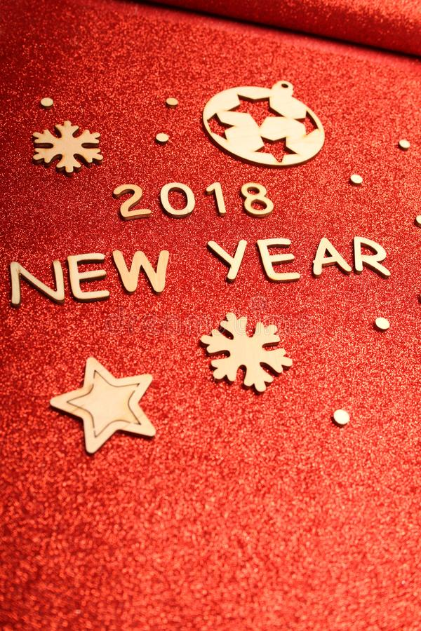 Carte de voeux du ` s de nouvelle année 2018 photographie stock