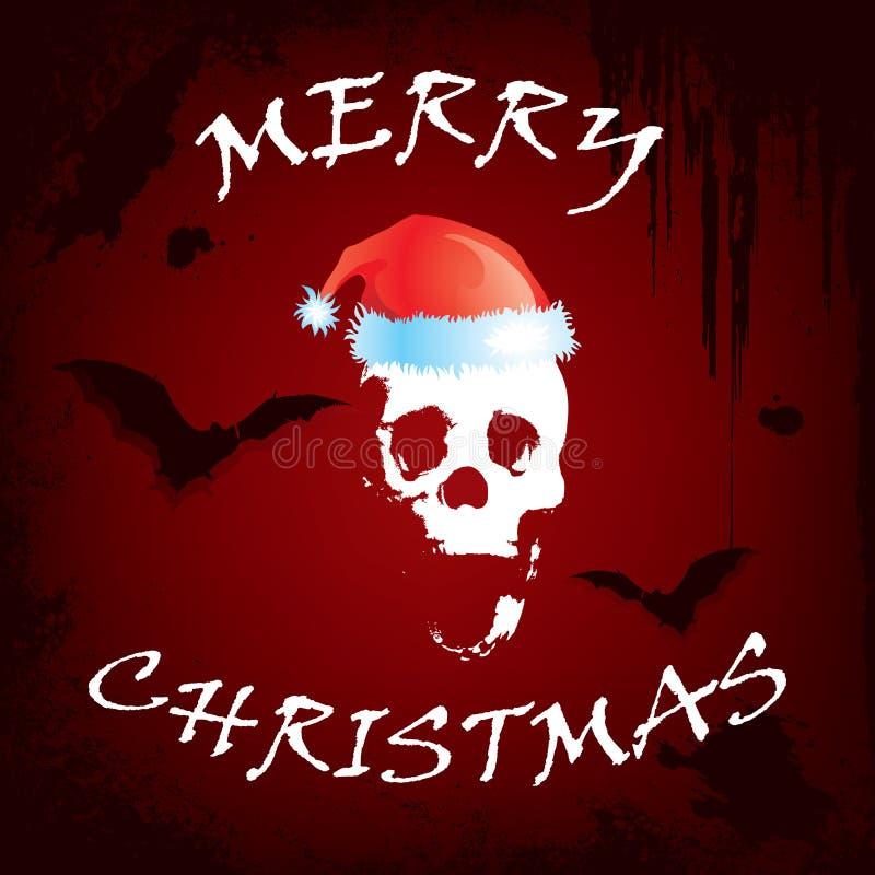 Carte de voeux effrayante de Noël illustration de vecteur