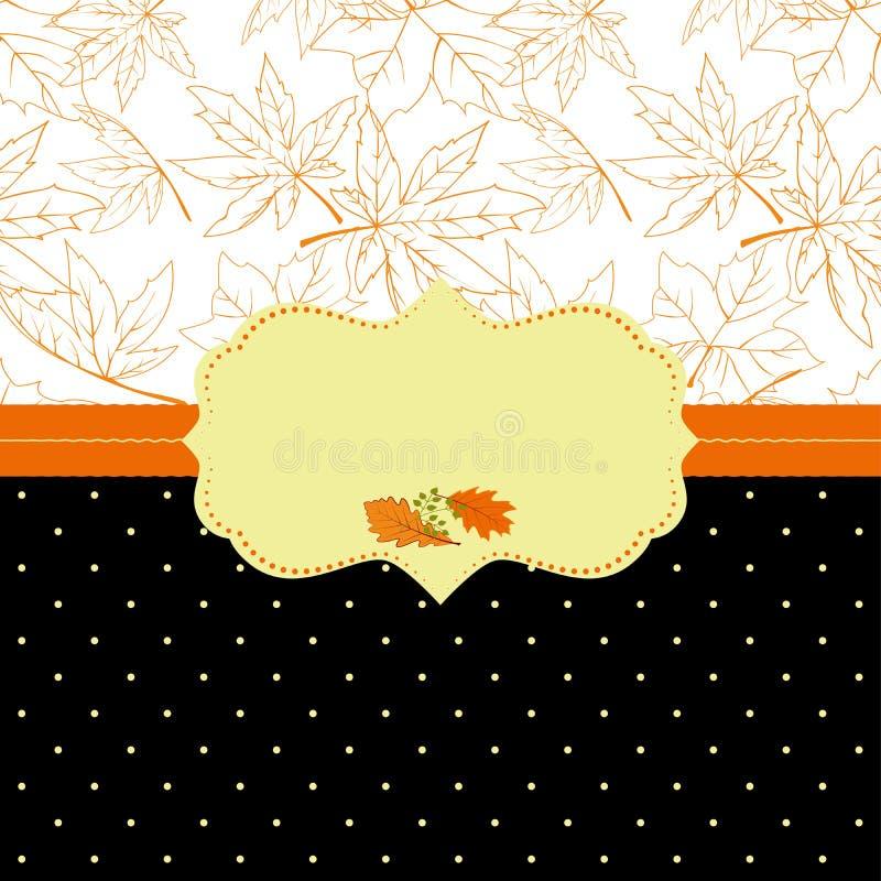 Carte de voeux fleurie de trame d'automne photo stock