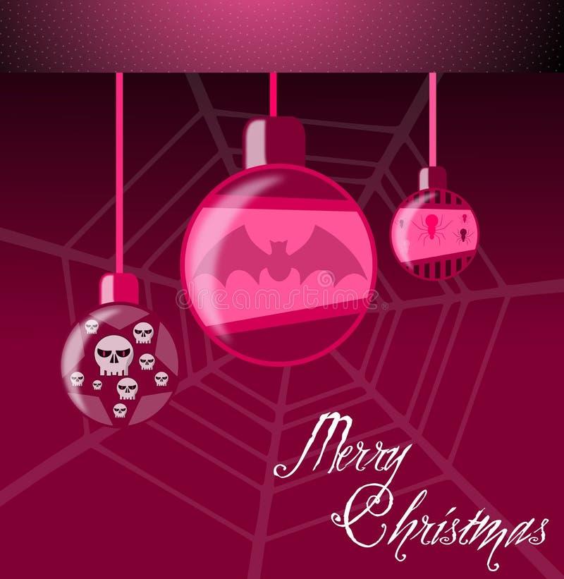 Carte de voeux gothique de Noël illustration libre de droits