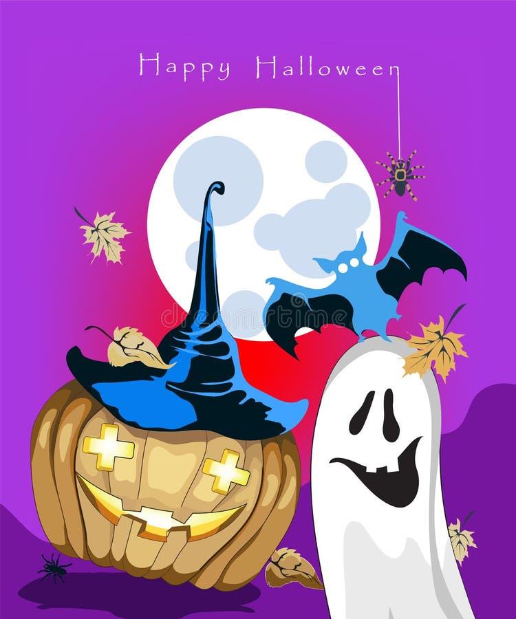 Carte de voeux de Halloween illustration de vecteur
