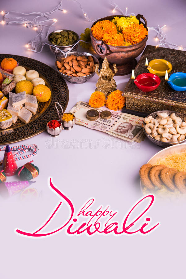 Carte de voeux heureuse de Diwali photographie stock