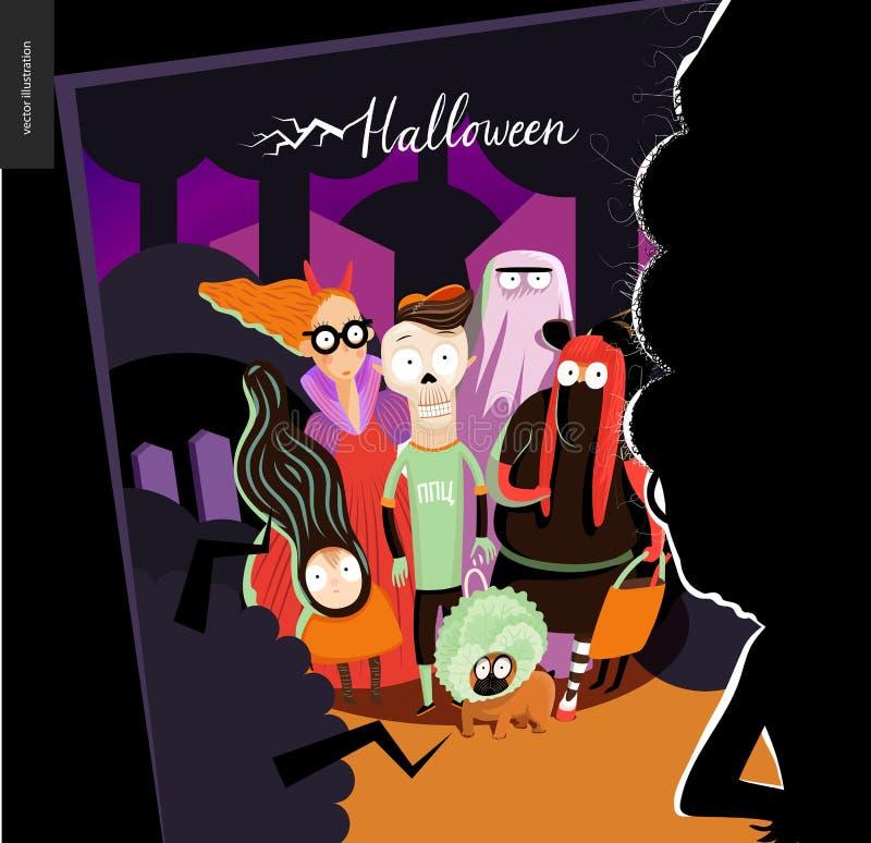 Carte de voeux heureuse de Halloween illustration stock