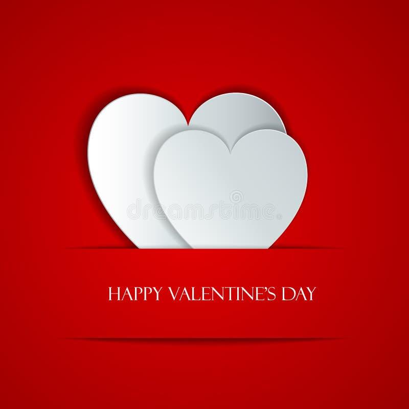 Carte de voeux heureuse de jour de Valentine illustration de vecteur