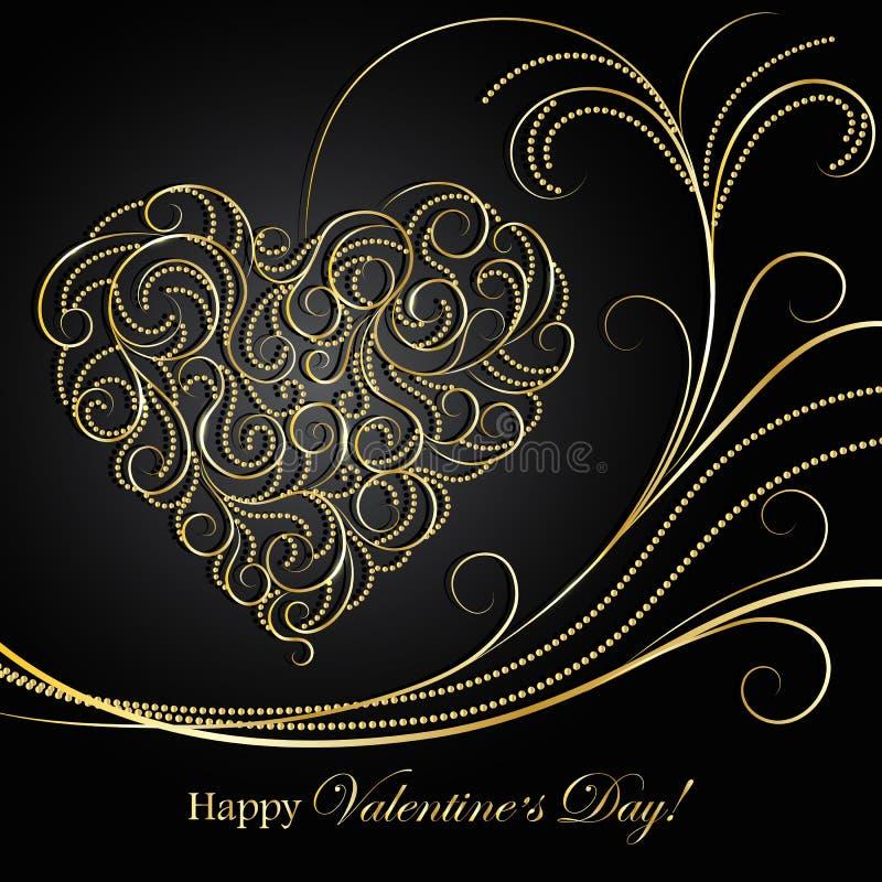 Carte de voeux heureuse de jour de Valentines illustration libre de droits