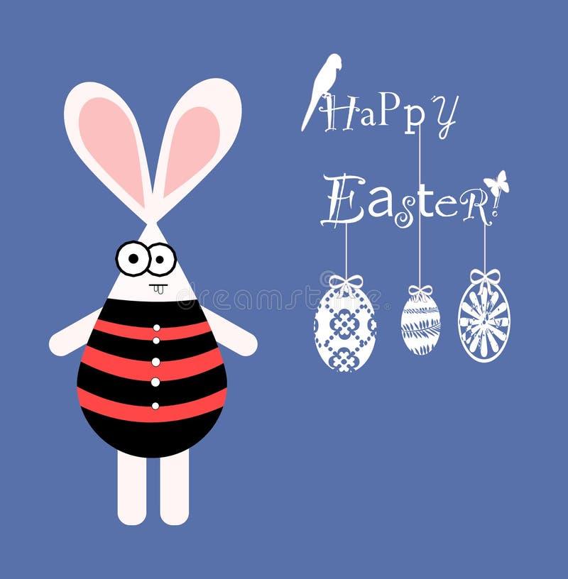 Carte de voeux heureuse de Pâques image libre de droits