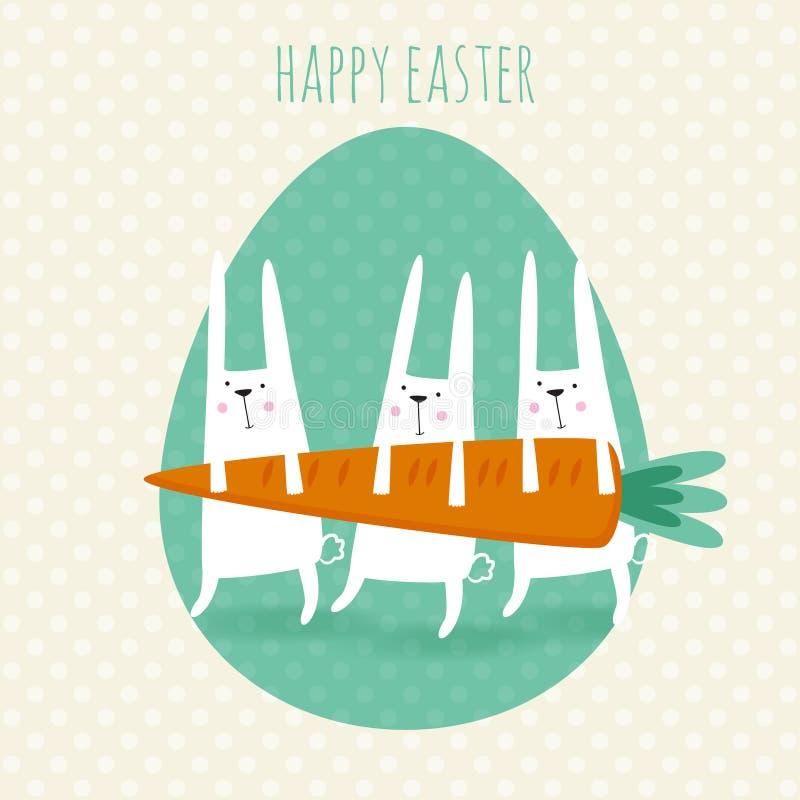 Carte de voeux heureuse de Pâques