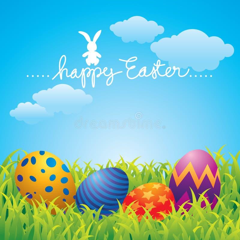 Carte de voeux heureuse de Pâques illustration libre de droits
