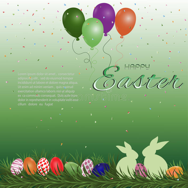Carte de voeux heureuse de Pâques illustration stock