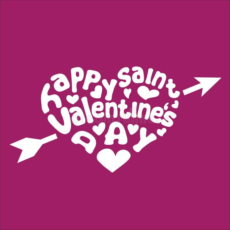 Carte de voeux heureuse du jour de Valentine illustration libre de droits
