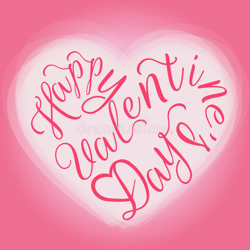Carte de voeux heureuse du jour de valentine illustration stock