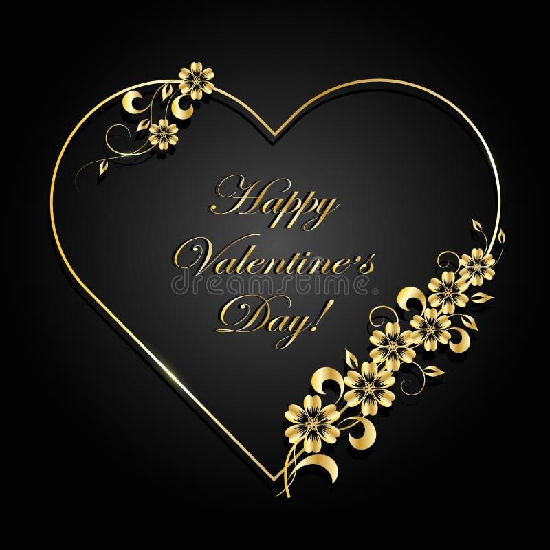 Carte de voeux heureuse de jour de Valentines illustration de vecteur