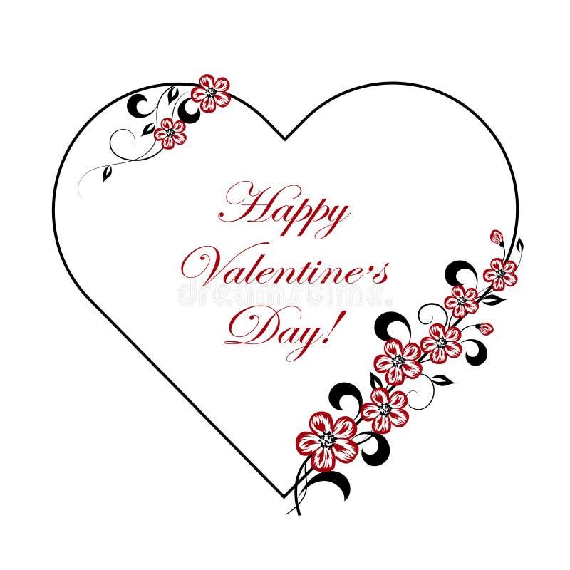Carte de voeux heureuse de jour de Valentines illustration stock