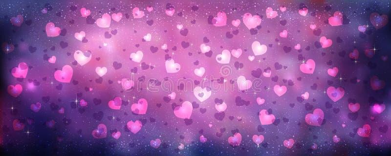 Carte de voeux heureuse de jour de Valentines Je t'aime 14 février illustration libre de droits