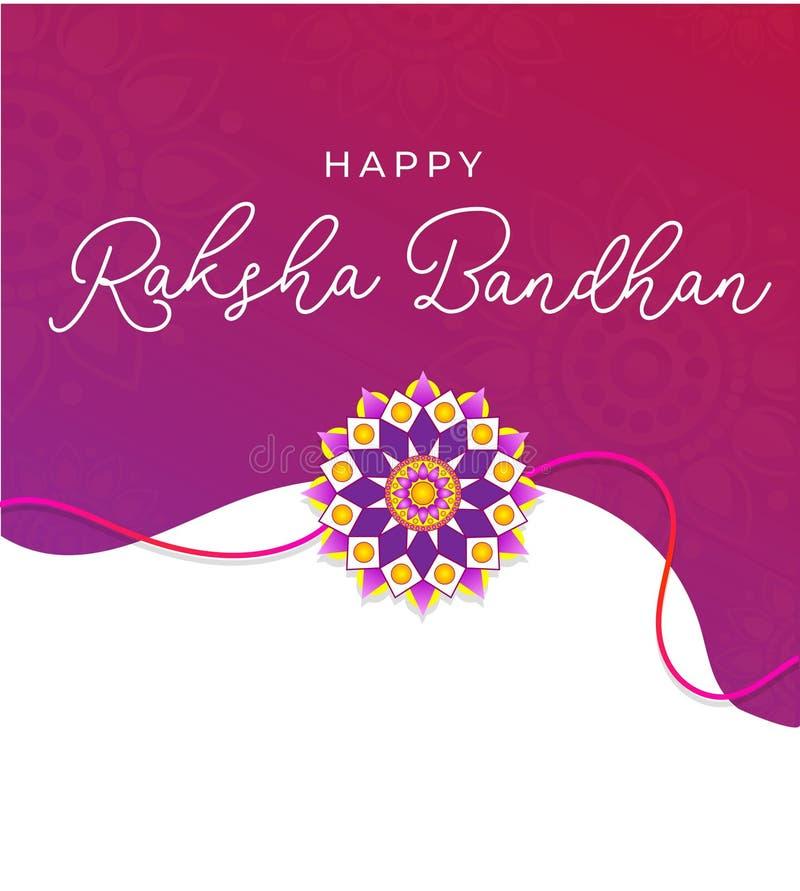 Carte de voeux heureuse de Raksha Bandhan Invitation de vacances ou concept indienne de carte Illustration de vecteur illustration stock