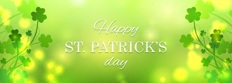 Carte de voeux de jour du ` s de St Patrick illustration de vecteur