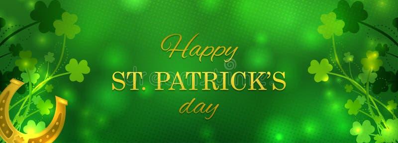 Carte de voeux de jour du ` s de St Patrick illustration stock