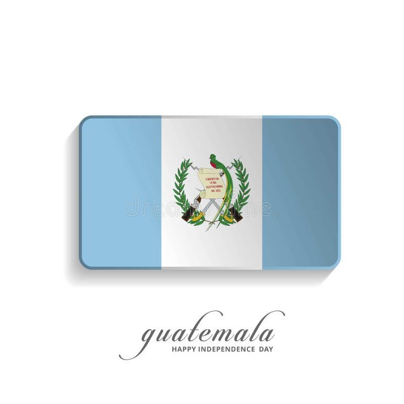 Carte de voeux de Jour de la Déclaration d'Indépendance du Guatemala illustration de vecteur