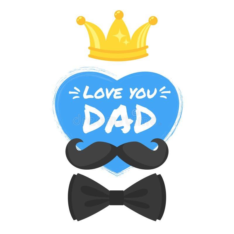 Carte de voeux de jour de pères illustration stock