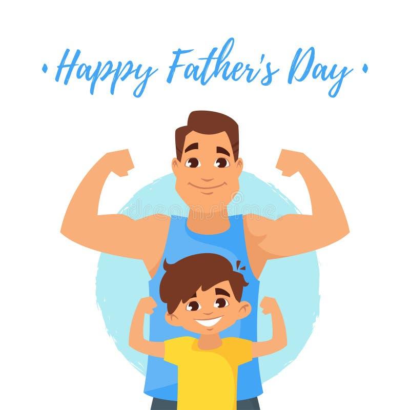 Carte de voeux de jour de pères illustration libre de droits