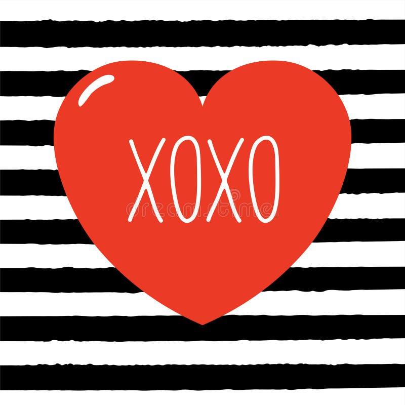 Carte de voeux de jour de Valentines illustration de vecteur