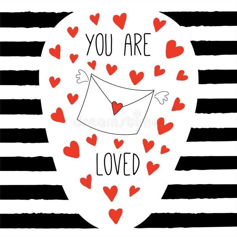 Carte de voeux de jour de Valentines illustration libre de droits