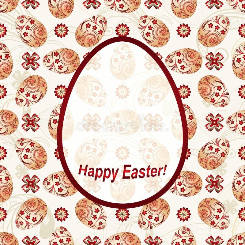 Carte de voeux Joyeuses Pâques illustration libre de droits