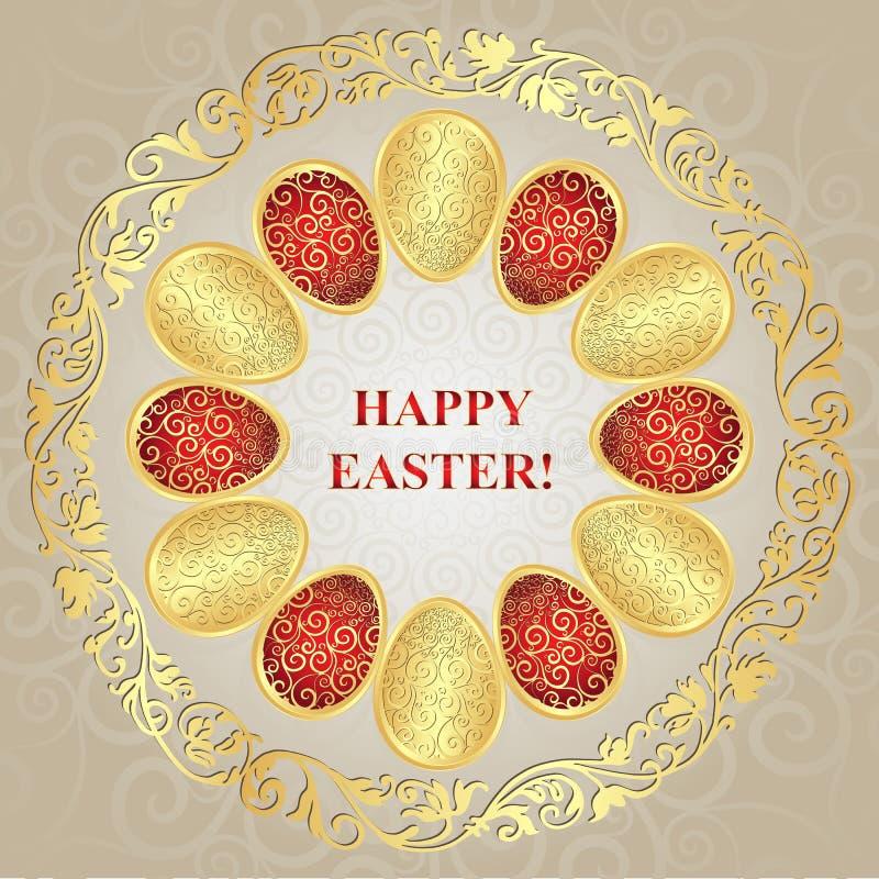 Carte de voeux Joyeuses Pâques illustration stock