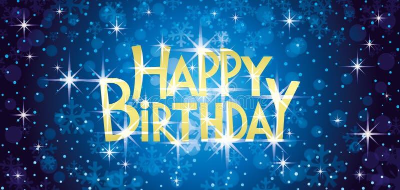 Carte de voeux de joyeux anniversaire illustration libre de droits