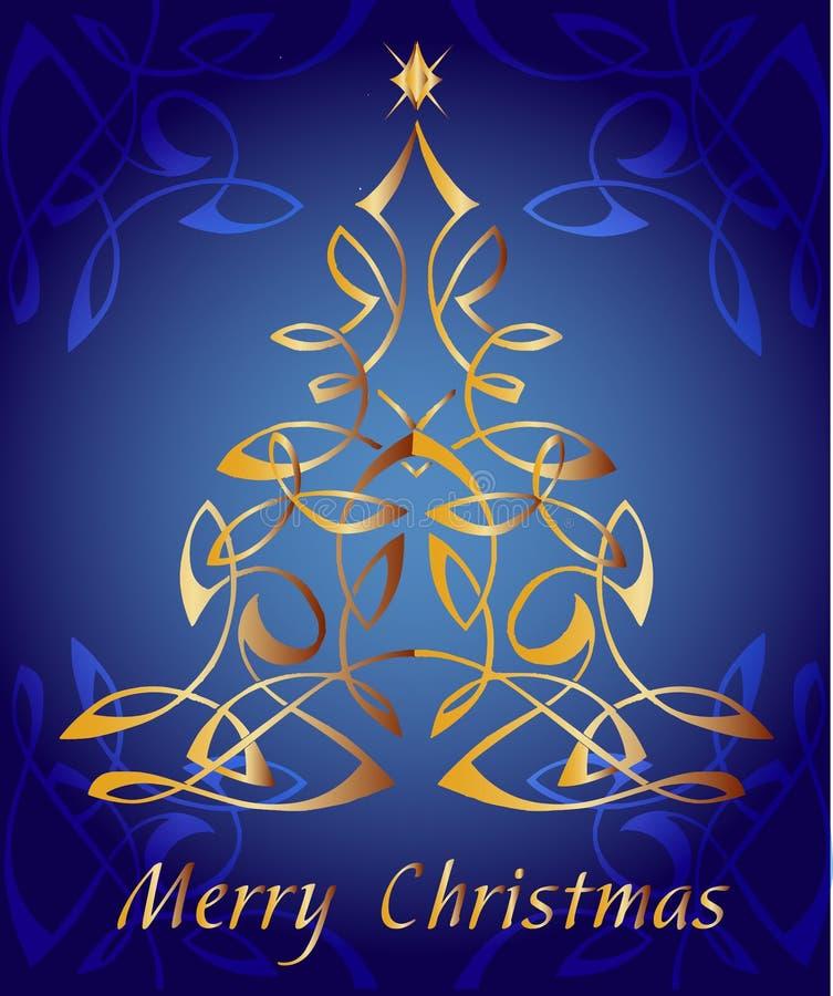 Carte de voeux de Joyeux Noël illustration libre de droits