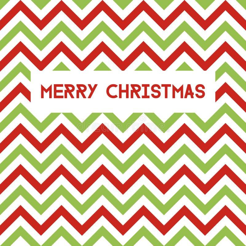 Carte de voeux de Joyeux Noël avec le modèle de chevron illustration libre de droits