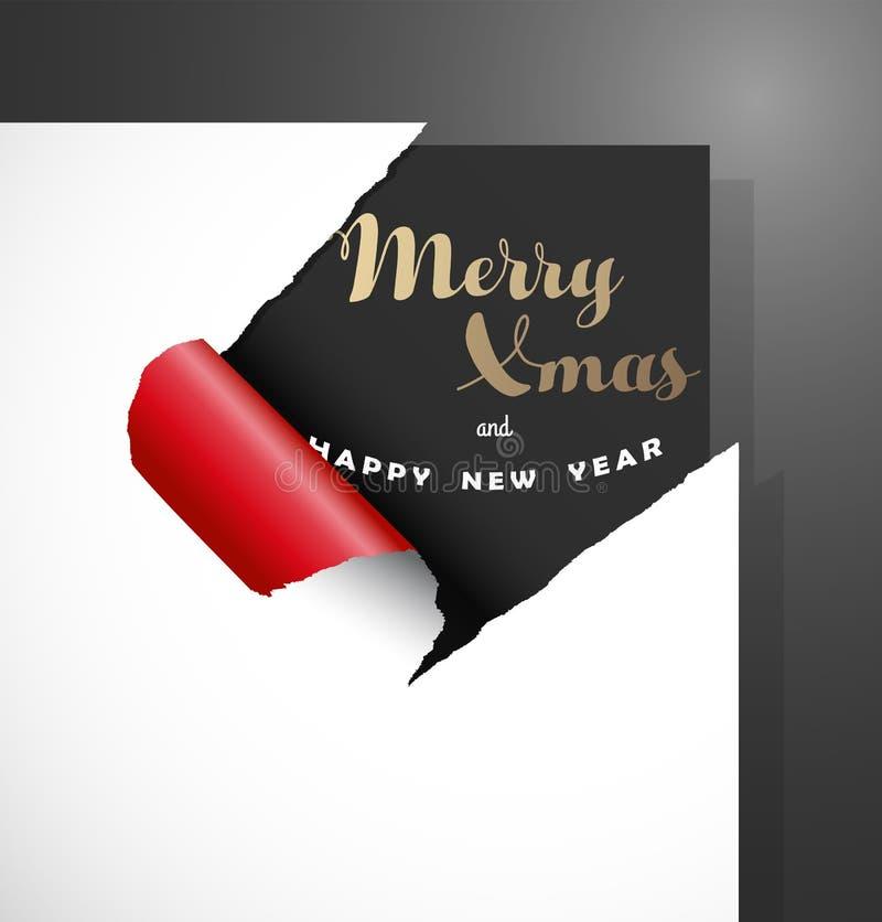 Carte de voeux de Joyeux Noël sur le fond foncé illustration stock